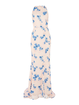 Jarlo Printed gown- Multi-Coloured