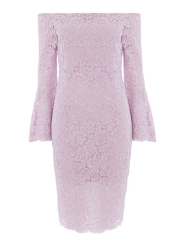 Bardot Solange lace dress- Lilac