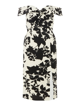 Bardot Floral off shoulder dress- Multi-Coloured