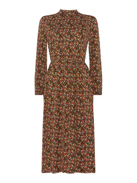 Vero Moda Long Sleeve Floral Kenya Midi Dress- Multi-Coloured