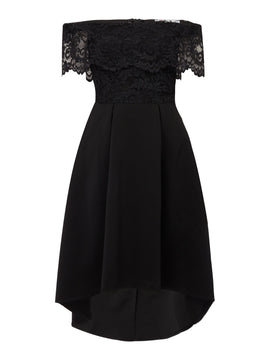 Sistaglam loves Jessica Bardot fit and flare dress- Black
