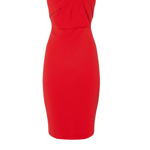 Eliza J Strapless bodycon dress with bow- Red