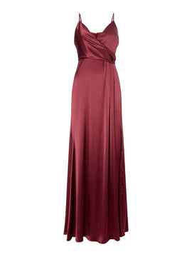 Jill Jill Stuart Strappy satin gown- Red