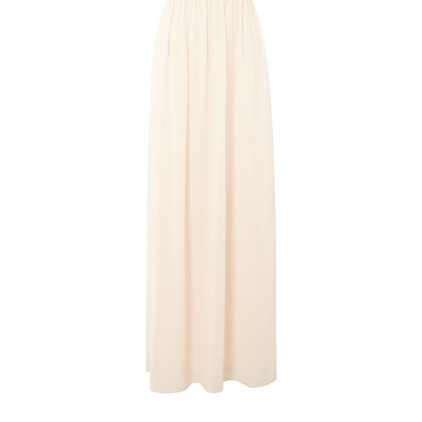 tfnc bardot jewel waist maxi dress- Nude