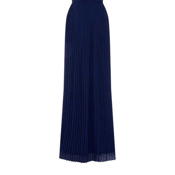 tfnc V neck sleeveless gown- Blue