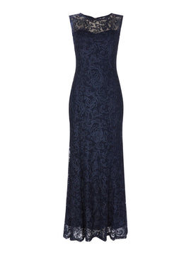 Marina Gown with keyhole detail- Blue