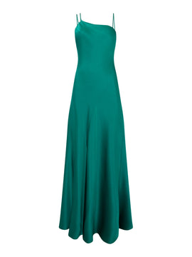 Outline Strappy satin gown- Green