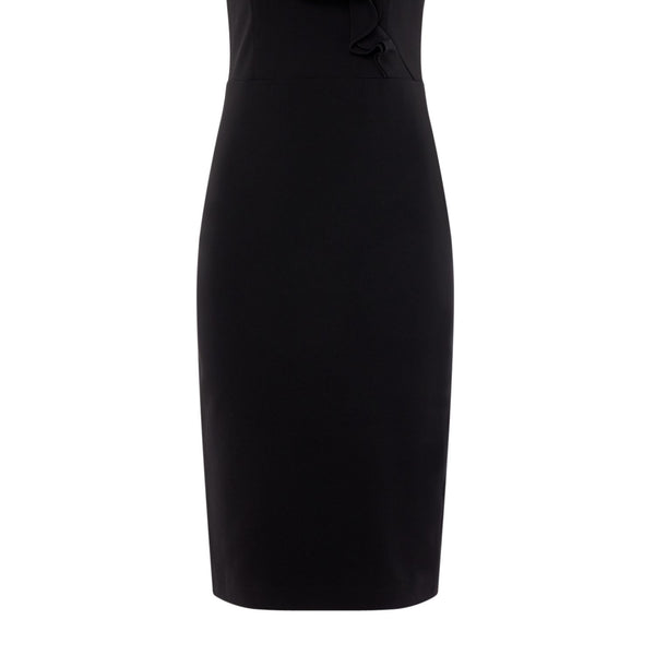 Bardot Strappy mini bodycon dress- Black