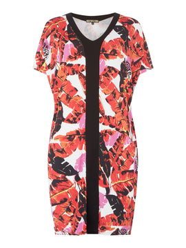 Biba Tropical Leaf Jersey Tunic- Multi-Coloured