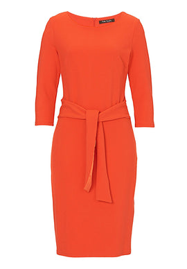 Betty Barclay Textured jersey dress- Orange