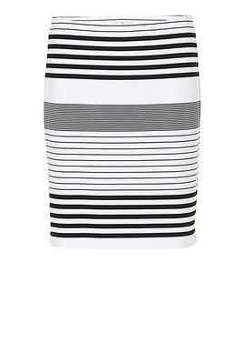 Betty Barclay Striped skirt- White