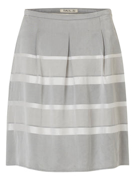 Betty Barclay Striped satin finish skirt- Grey