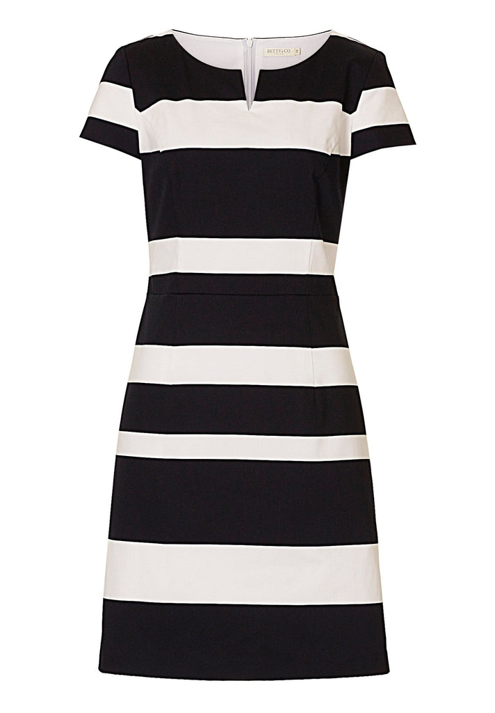 Betty & Co. Striped shift dress- White