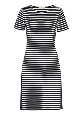 Betty Barclay Striped jersey dress- Multi-Coloured