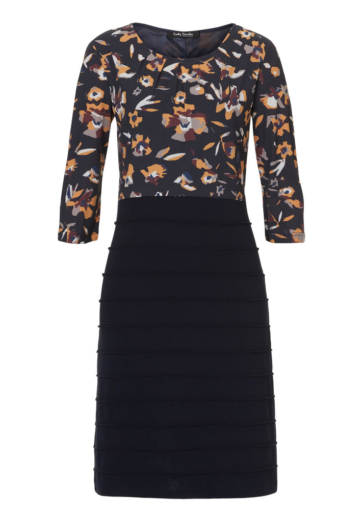 Betty Barclay Floral print and jersey dress- Blue
