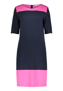 Betty Barclay Short Sleeved Jersey Dress- Multi-Coloured