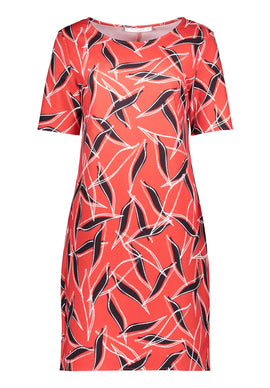 Betty & Co. Graphic Print Jersey Dress- Multi-Coloured