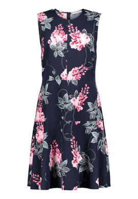 Betty Barclay Floral Print Jersey Dress- Multi-Coloured