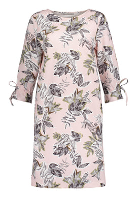 Betty & Co. Leaf Print Dress- Multi-Coloured
