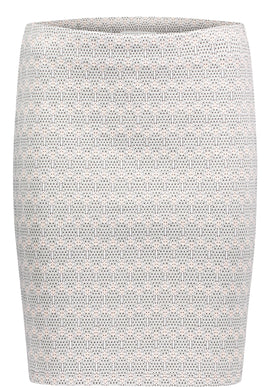 Betty & Co. Textured Jersey Skirt- Multi-Coloured