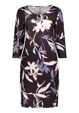 Betty & Co. Floral Print Jersey Dress- Multi-Coloured