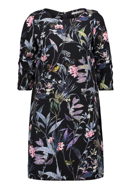 Betty & Co. Floral Print Crêpe Dress- Multi-Coloured