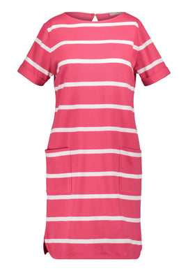 Betty & Co. Textured Striped Dress- Multi-Coloured