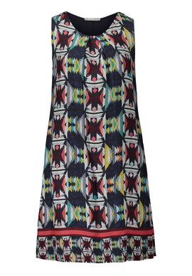 Betty & Co. Printed Shift Dress- Multi-Coloured
