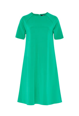 Hallhuber A-line Jersey Dress- Emerald