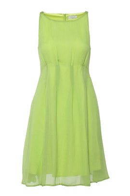 Carolina Cavour Summer Shift Dress With Boat Neck- Yellow