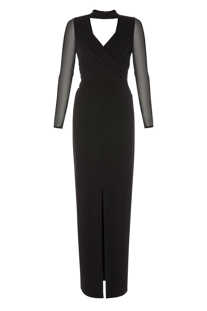 Coast Oria Jersey Maxi Dress- Black