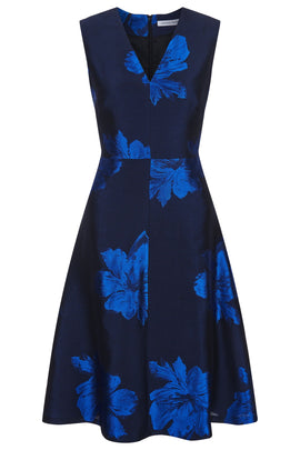 Fenn Wright Manson Olivia Dress Navy- Blue