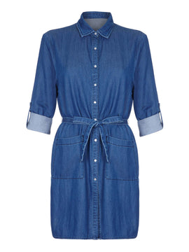 Yumi Yumi Denim Dress- Blue