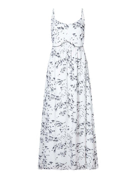 Yumi Giraffe Printed Maxi Dress- White