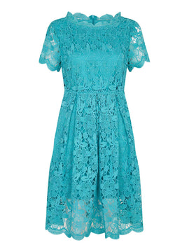 Yumi Curves Guipure Lace Dress- Jade