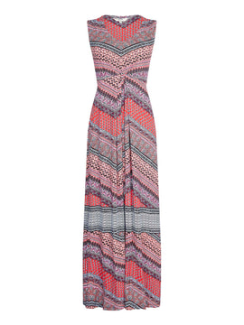 Yumi Aztec Print Maxi Dress- Multi-Coloured