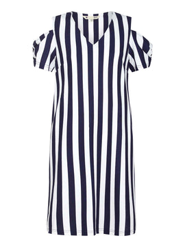 Yumi Nautical Stripe Tunic Dress- Blue