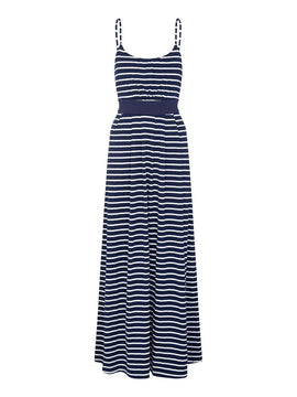 Yumi Nautical Stripe Maxi Dress- Blue