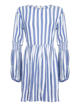 Yumi Vertical Stripe Tunic- Blue