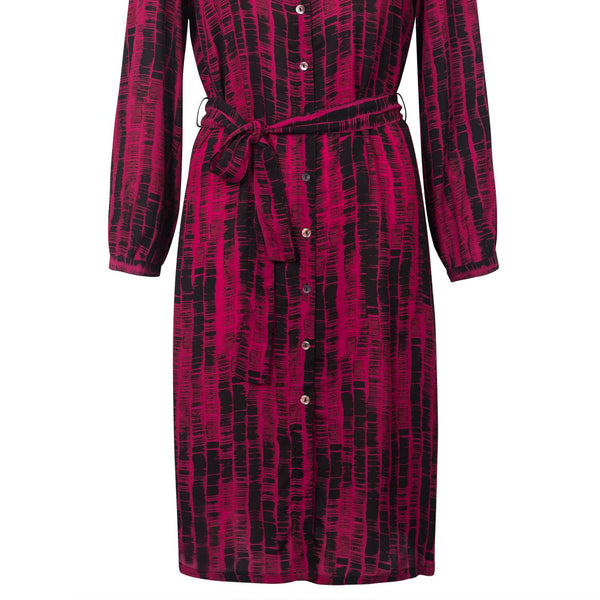 East Graphic Stripe Tunic Dress- Magenta