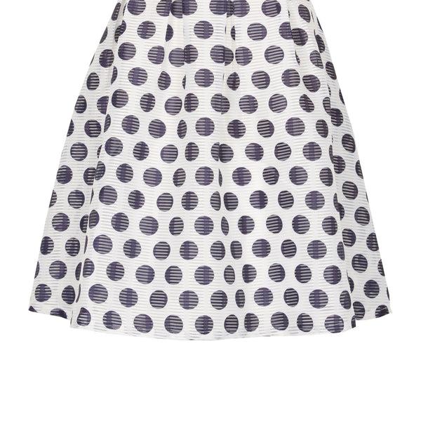 Cutie Polka Dot Skirt- Blue