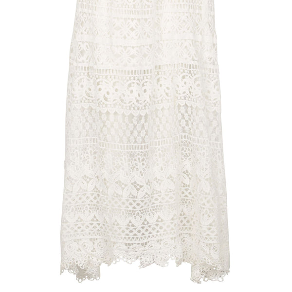 Cutie Maxi Lace Skirt- White