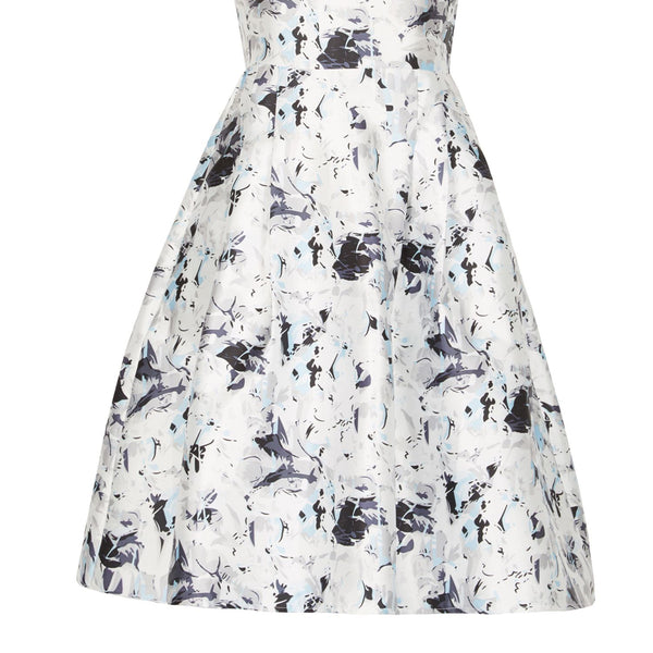 Cutie Forest Flowers Dress- Grey