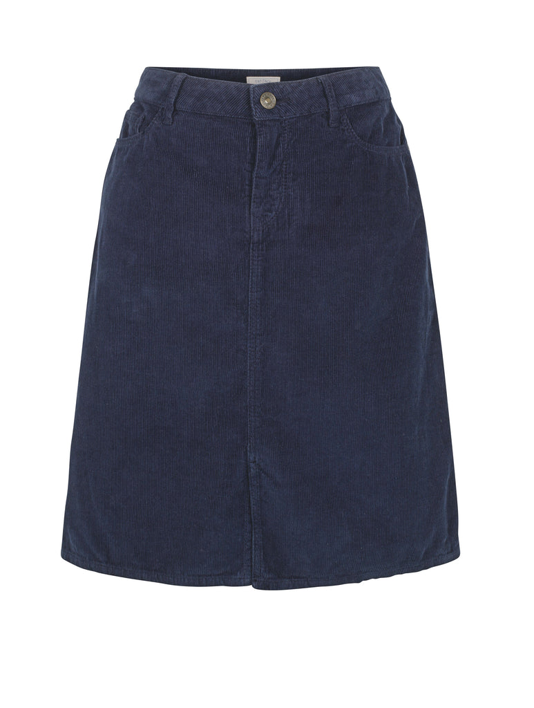Fat Face Darcy Cord Skirt- Blue
