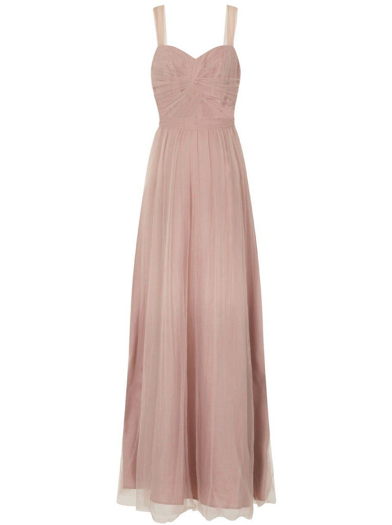 Chi Chi London Knot front detail maxi dress- Pink