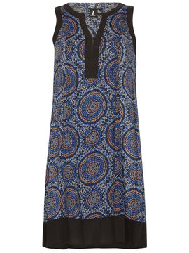 Izabel London Circle Print Dress- Multi-Coloured