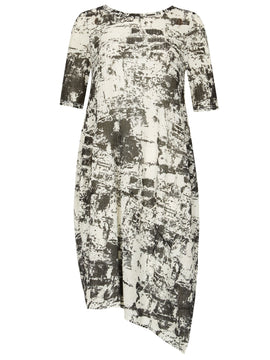 Izabel London Abstract Print Dress- Multi-Coloured