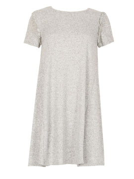 Izabel London Frill Detail Dress- Grey
