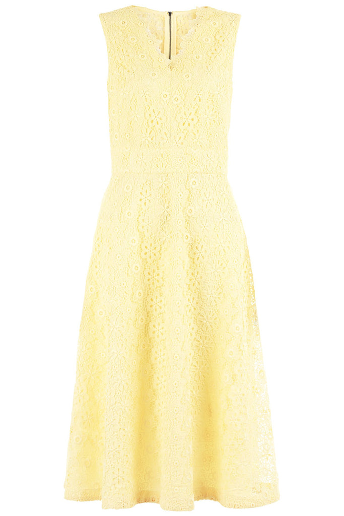 Damsel in a Dress Lace Dress- Lemon