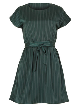 GOLDKID LONDON Pinstripe Sleeves Dress- Green